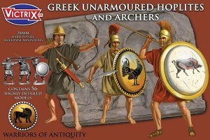 Ancient Greek Unarmoured Hoplites with archers