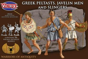 Ancient Greek Peltasts with slingers