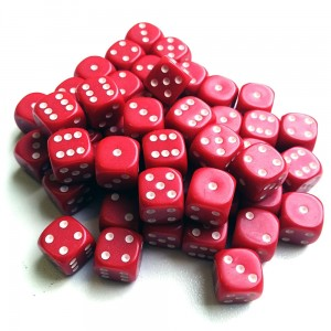 12mm Opaque Red Dice D6 x 20