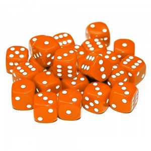 12mm Opaque Orange Dice D6 x 20