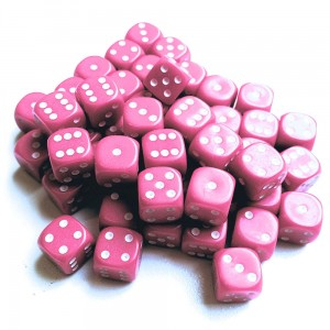 12mm Opaque Pink Dice D6 x 20