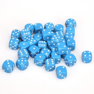 12mm Opaque Light Blue Dice D6 x 20