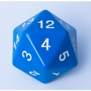 Blackfire Dice - D20 Countdown Die 55 mm - Blue
