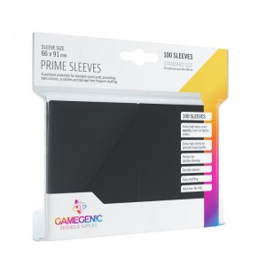Gamegenic: Prime CCG Sleeves (66x91 mm), Black, 100 szt.