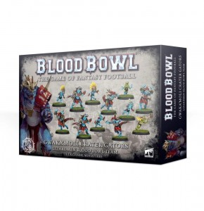 BLOOD BOWL: GWAKA'MOLI CRATER GATORS / LIZARDMEN TEAM